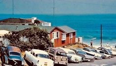 """Stu News Laguna on Instagram: """"Take a look back at Brooks Street, circa 1962! This photo serves as a time capsule of our beach culture in its 1960s heyday. Photo:…"""" The Oc, Us Beaches, Time Capsule, Laguna Beach, Looking Back, 1960s, California, Cabin, Culture"""