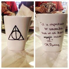 Harry Potter mug art (: