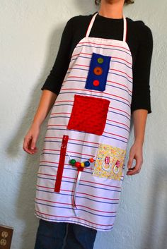 Homemade activity apron for those with Alzheimer's Disease.  Donation to the Alzheimer's Association with every purchase.