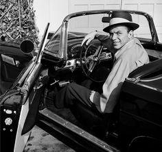 Frank Sinatra in a  rad car