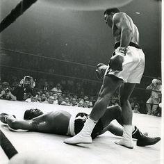 Ali standing over Sonny Liston