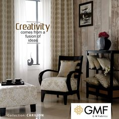 Be as #Creative as you like, #DeckUp your #Home in a way that reflects your #Creativity. Explore more on www.gmfabrics.com #Furnishings #HomeDecor #GMF #GMFabrics #HomeFabric #Decor #UpholsteryFabric #Curtains #Cushions