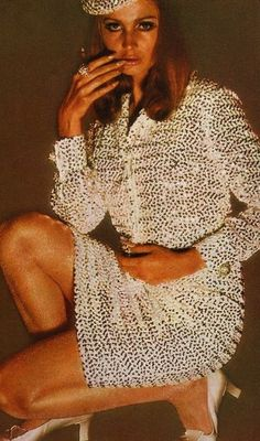 Sue Murray in a sequin mini dress by Susan Small, 1966