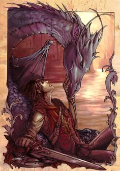 Eragon and Saphira--love this series :)