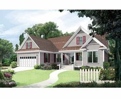 Eplans Country House Plan - Made for Small Families - 1399 Square Feet and 3 Bedrooms(s) from Eplans - House Plan Code HWEPL06897