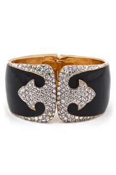 Ciner Art Deco Cuff - Dress up even the most bland of outfits with this gorgeous Ciner cuff! Only $35!