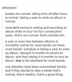 "BLESS WHOEVER WROTE THIS. THIS, PLUS THE BOYS' TWEETS, HAVE MADE ME FEEL A LOT BETTER ABOUT THE WHOLE ""TAKING A BREAK"" SITUATION."