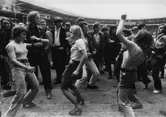 Vintage Photographs of Hippies and Teds Gathered at Wembley Stadium for a Rock 'n' Roll Revival Show in 1972 ~ vintage everyday