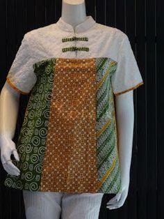 Model Baju Batik Atasan Blouse Batik, Batik Dress, Blouse Dress, African Wear, African Fashion, Batik Kebaya, Ankara Jackets, Batik Fashion, Boutique Tops