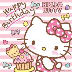 The Official Home of Hello Kitty & Friends - Sanrio Cute Birthday Wishes, Hello Kitty Birthday, Cat Birthday, Happy Birthday Greetings, Birthday Greeting Cards, Sanrio Hello Kitty, Kitty Party, Hello Kitty Imagenes, Hello Kitty Themes