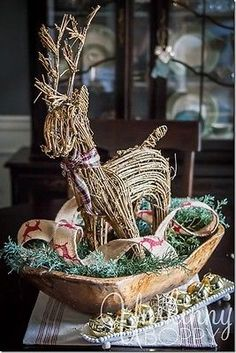 How to decorate a dough bowl for all four seasons- great decor ideas for your home.