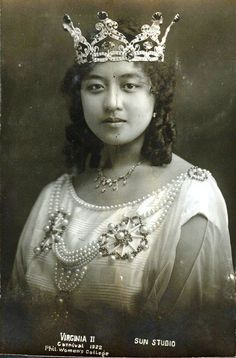 Virginia II. Manila Carnival Queen. Feb 15 1922 Filipino Art, Filipino Culture, Historical Clothing, Historical Photos, Vintage Photographs, Vintage Photos, Model Minority, Filipino Fashion, Philippine Women