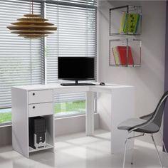 Por que a Escrivaninha Bc 40-06?Ideal para compor um ambiente para trabalho e estudo a Escrivaninha Bc 40-06 é bastante compacta e ótima para ter dentro do quarto, sala ou escritório. O móvel na cor branca é produzido em MDP, material resistente e de boa durabilidade. Acompanha 2 gavetas e prateleira para auxiliar na organização de seus livros e objetos. O modelo em L é perfeito para otimizar espaço, agregando praticidade e charme ao seu lar! : )