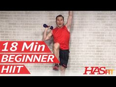 18 Min Beginner HIIT Workout for Fat Loss at Home - HIIT Workout for Beginners - HIIT Exercises - YouTube