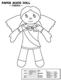 Canadian Colouring Sheet Multicultural Activities, Activities For Boys, Craft Activities, Colouring Pages, Coloring Sheets, Brownies Girl Guides, Brownies Activities, Cute Camping Outfits, World Thinking Day