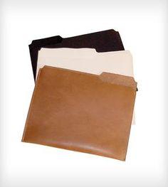 Leather Filing Folder iPad Case