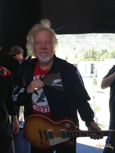 Randy Bachman sporting his All Blacks pride at the 2013 Gibbston Summer Concert. #gibbstonvalley