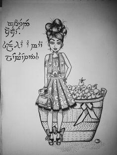 girl, art, drawing, sketch