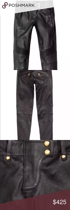 Balmain HM Leather Pants Brand new with tags. Perfect condition. Balmain Pants Skinny