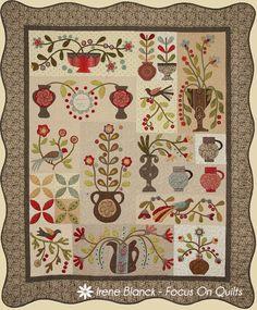 Gardenhurst, a quilt design by Irene Blanck/Focus on Quilts