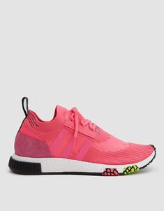 7b0640959 Adidas   NMD Racer Primeknit Sneaker in Solar Pink