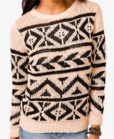 Geo Pattern Sweater | FOREVER 21 - 2015520014