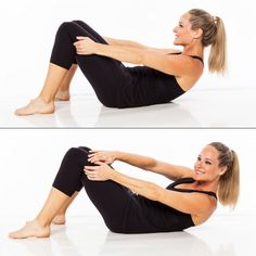 Best barre exercise for abs: curl and cross.