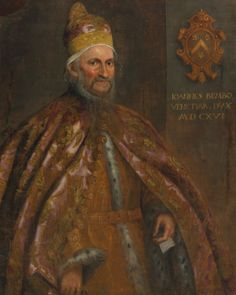 Portrait of the Doge Giovanni Bembo, Domenico Robusti, called Domenico Tintoretto; with symbolic identifying coat of arms. (Sotheby's)