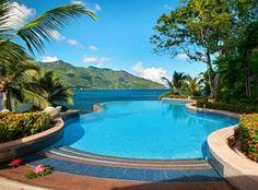 Hilton Seychelles Northolme Resort And Spa - Outdoor Swimming Pool Seychelles Resorts, Les Seychelles, Seychelles Honeymoon, Seychelles Islands, Infinity Pools, Beautiful Pools, Beautiful Places, Beautiful Villas, Hilton Worldwide