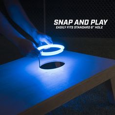 No-drill installation! 36 LEDs: Each ring is brightly lit by 36 LED lights, that's more LEDs than the competition to ensure your set is both fun and functional. Cornhole Lights, Cornhole Scoreboard, Cornhole Set, Cornhole Rules, Cornhole Decals, Diy Yard Games, Backyard Games, Lawn Games, Diy Games