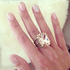 Create the perfect statement with the Cushion-cut cocktail ring  in blush tone $42 #blush #pink #vintage #statement #ring #rings #cocktailring #girly #pretty #spring #whatiwore #fashionista #boutique #jewelrydesgn #chic