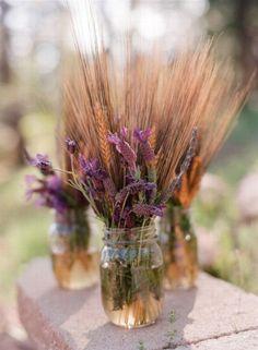 Non-Floral Centrepiece: Wheat Arrangements