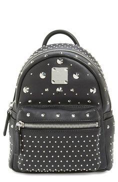 MCM  X-Mini Stark - Bebe Boo  Studded Leather Backpack  7449909fb20ca