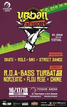 Fusion ARENA propune timp de 3 zile, in perioada 16-18 august, competitii spectaculoase de skateboarding, bmx si role in cel mai tare skatepark indoor din tara, precum si battle-uri incitante intretrupe de B-boy si Street Dance. Serile dedicate petrecerilor sunt antrenate cu super-concerte si DJ Sets.