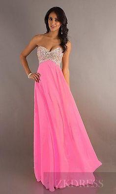 Elegant No Waist/Princess Seams Long Sleeveless Orange A-Line Evening Dresses In Stock zkdress23715