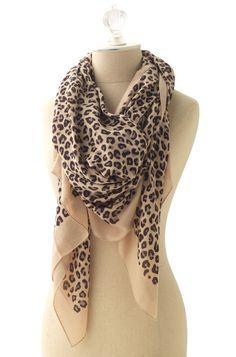 Loving Leopard.  Bryant Park Scarf - Tan - Stella & Dot