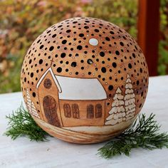 Hottest Free of Charge big pottery designs Strategies Leuchtball groß – / Verkaufte Ware des Verkäufers Bédina Christmas Globes, Christmas Balls, Pottery Tools, Pottery Art, Flower Structure, Pottery Courses, Pottery Store, Wax Carving, Carving Designs