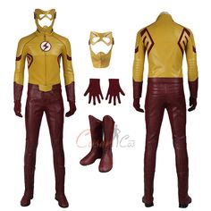 Item Number:dcthf012, Wally West Costume The Flash Season 3 Cosplay Full Set online sale! Buy great cosplay full set costumes for Halloween and Christmas.