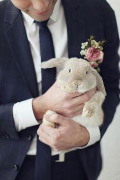 trouwfoto's met konijn