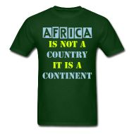 T-Shirts ~ Men's Standard Weight T-Shirt ~ Africa is not a country