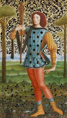 Le valet de bâtons - Tarot d'or Botticelli par Atanas Alessandro Atanassov