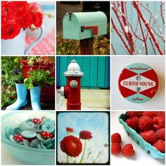 Red and aqua - have I mentioned how I just can't get enough of this color combination? Wow!
