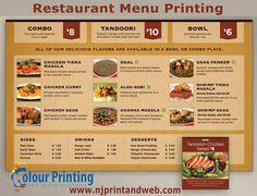 get the best restaurant menu designed and printed by njprintandweb