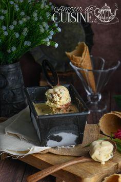 crème glacée à la vanille sans sorbetière - Amour de cuisine Banana Split, Pavlova, Granita, Ramadan, Dairy, Sorbets, Cheese, Recipes, English