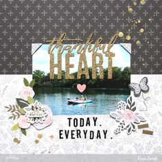 Thankful Heart Layout by @reneezwirek using the #HeartOfHome collection by @pebblesinc and @Tatertots and Jello .com #sponsored