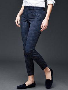 Bi-stretch skinny ankle pants   Gap POLKA DOTS = TOOOO CUTEEEE!!!! =D