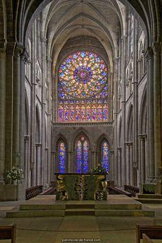 Ancienne cathédrale Saint-Vincent à St malo.Bretagne