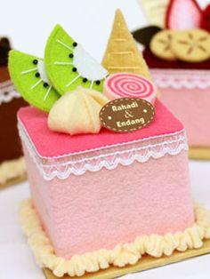 Felt Cake Box Kotak Perhiasan Rp 20 000 Pcs cakepins.com More
