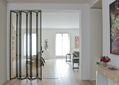 50 Best Interior Design Projects by Andree Putman Top Interior Designers, Best Interior Design, Door Design, House Design, White Oak Floors, White Walls, White Rugs, Room Divider Doors, Room Doors