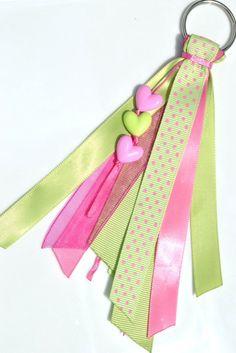 Ribbon tassel keychain